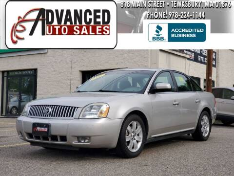 2007 Mercury Montego for sale at Advanced Auto Sales in Tewksbury MA
