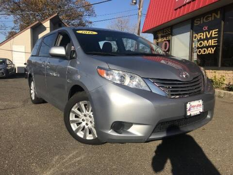 2016 Toyota Sienna for sale at PAYLESS CAR SALES of South Amboy in South Amboy NJ