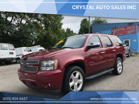 2007 Chevrolet Tahoe for sale at Crystal Auto Sales Inc in Nashville TN
