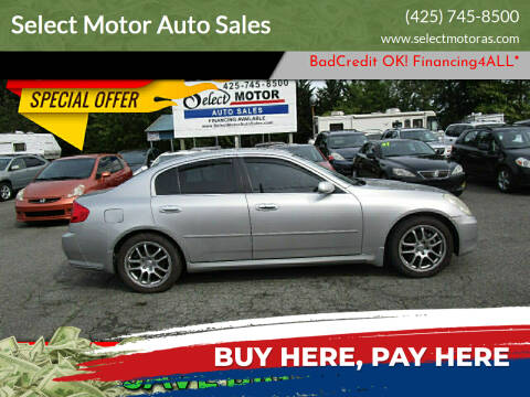 2005 Infiniti G35 for sale at Select Motor Auto Sales in Lynnwood WA