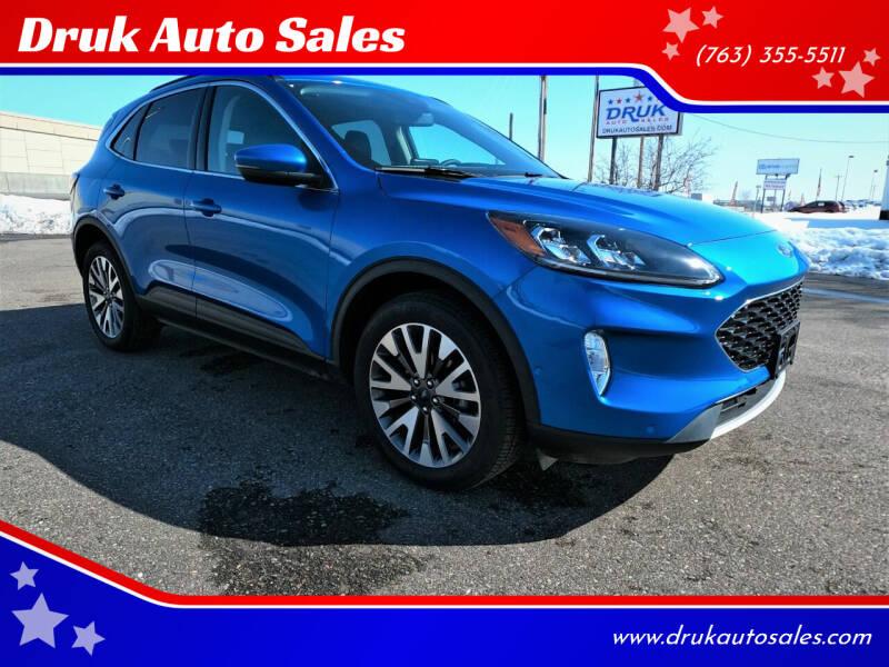 2020 Ford Escape for sale at Druk Auto Sales in Ramsey MN