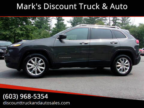 2015 Jeep Cherokee for sale at Mark's Discount Truck & Auto in Londonderry NH