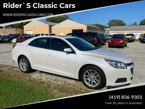 2015 Chevrolet Malibu for sale at Rider`s Classic Cars in Millbury OH