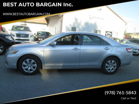2010 Toyota Camry for sale at BEST AUTO BARGAIN inc. in Lowell MA