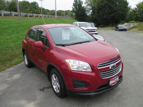 2015 Chevrolet Trax for sale at Percy Bailey Auto Sales Inc in Gardiner ME