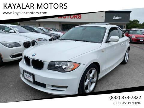 2010 BMW 1 Series for sale at KAYALAR MOTORS in Houston TX