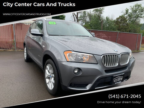 2013 BMW X3 for sale at City Center Cars and Trucks in Roseburg OR