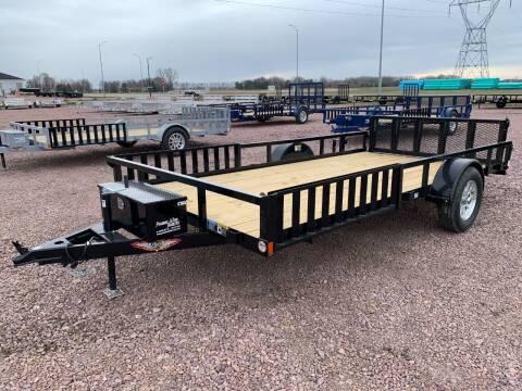 2021 H&H Rail Side 82x14 ATV #9698 for sale at Prairie Wind Trailers, LLC in Harrisburg SD