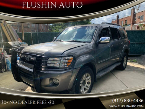 2007 Toyota Sequoia for sale at FLUSHIN AUTO in Flushing NY