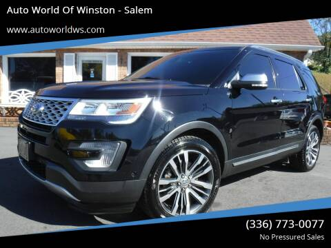 2016 Ford Explorer for sale at Auto World Of Winston - Salem in Winston Salem NC