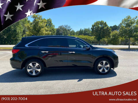 2016 Acura MDX for sale at ULTRA AUTO SALES in Whitehouse TX