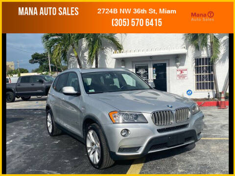 2014 BMW X3 for sale at MANA AUTO SALES in Miami FL