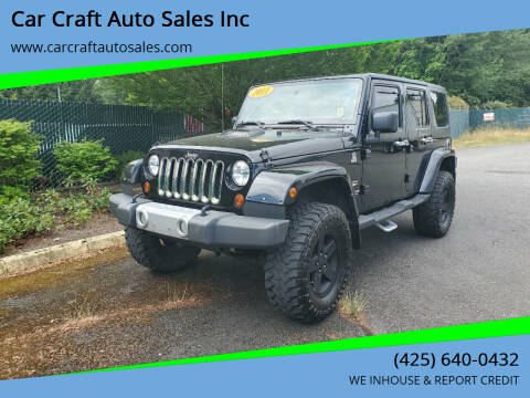 2011 Jeep Wrangler Unlimited for sale at Car Craft Auto Sales Inc in Lynnwood WA