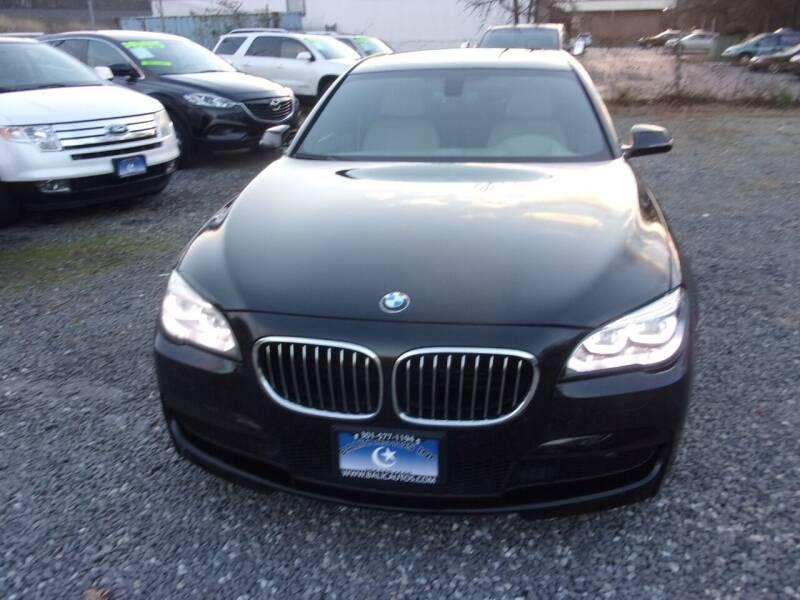 2013 BMW 7 Series for sale at Balic Autos Inc in Lanham MD