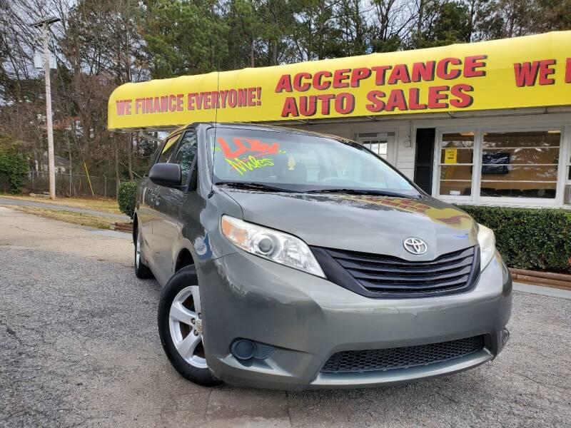 2011 Toyota Sienna for sale at Acceptance Auto Sales in Marietta GA
