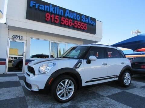 2012 MINI Cooper Countryman for sale at Franklin Auto Sales in El Paso TX