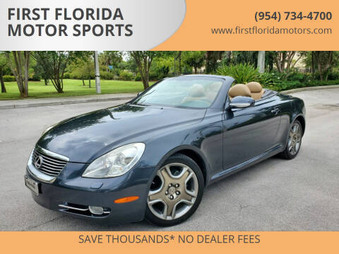2006 Lexus SC 430 for sale at FIRST FLORIDA MOTOR SPORTS in Pompano Beach FL
