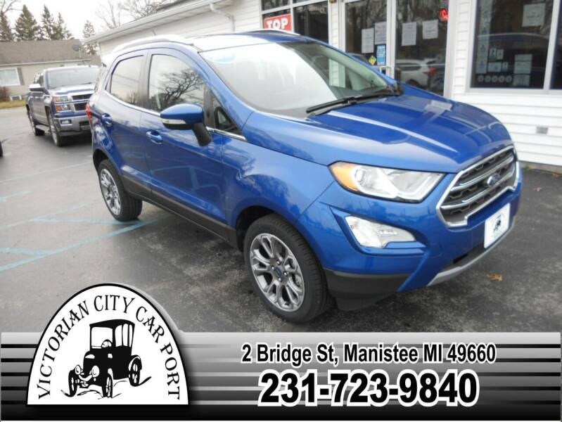 2019 Ford EcoSport for sale at Victorian City Car Port INC in Manistee MI