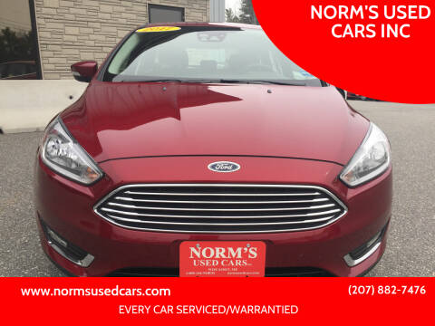 2017 Ford Focus for sale at NORM'S USED CARS INC in Wiscasset ME