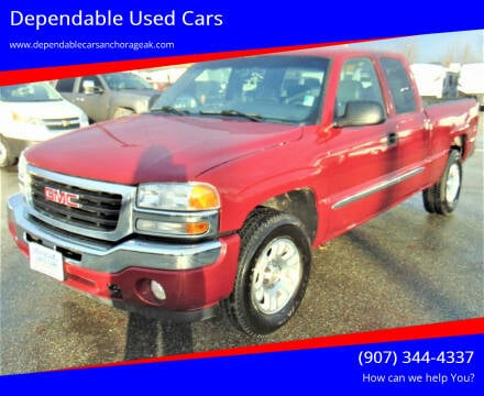 2006 GMC Sierra 1500 for sale at Dependable Used Cars in Anchorage AK