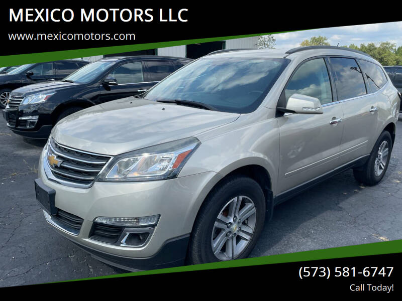 2015 Chevrolet Traverse for sale at MEXICO MOTORS LLC in Mexico MO