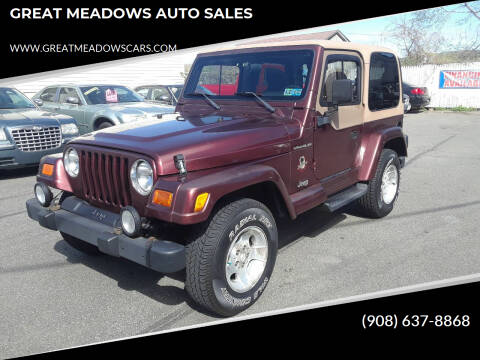 2002 Jeep Wrangler for sale at GREAT MEADOWS AUTO SALES in Great Meadows NJ