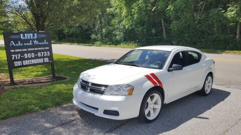 2012 Dodge Avenger for sale at LMJ AUTO AND MUSCLE in York PA