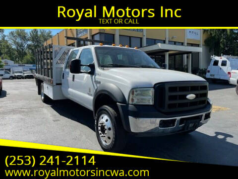 2007 Ford F-550 Super Duty for sale at Royal Motors Inc in Kent WA