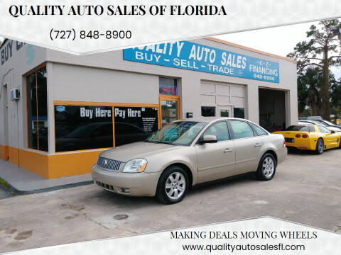 2005 Mercury Montego for sale at QUALITY AUTO SALES OF FLORIDA in New Port Richey FL