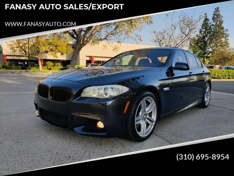 2013 BMW 5 Series for sale at FANASY AUTO SALES/EXPORT in Yorba Linda CA