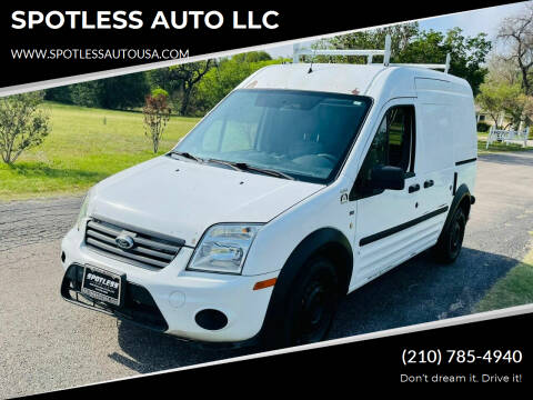 2010 Ford Transit Connect for sale at SPOTLESS AUTO LLC in San Antonio TX