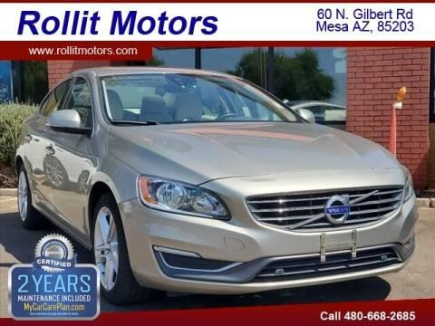 2015 Volvo S60 for sale at Rollit Motors in Mesa AZ