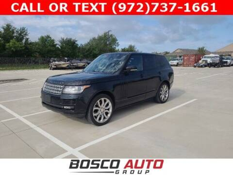 2014 Land Rover Range Rover for sale at Bosco Auto Group in Flower Mound TX
