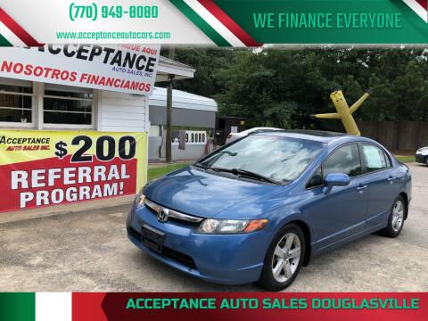 2007 Honda Civic for sale at Acceptance Auto Sales Douglasville in Douglasville GA