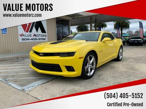 2015 Chevrolet Camaro for sale at VALUE MOTORS in Kenner LA
