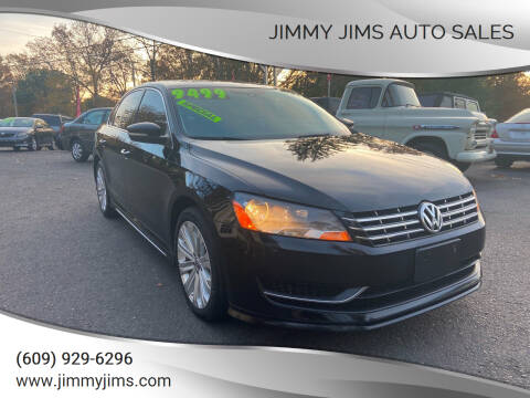 2013 Volkswagen Passat for sale at Jimmy Jims Auto Sales in Tabernacle NJ