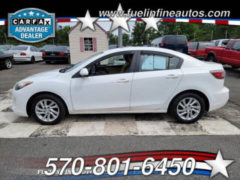 2012 Mazda MAZDA3 for sale at FUELIN FINE AUTO SALES INC in Saylorsburg PA