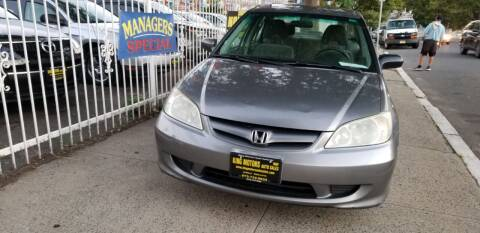 2005 Honda Civic for sale at KING MOTORS AUTO SALES, INC in Newark NJ
