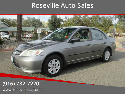 2005 Honda Civic for sale at Roseville Auto Sales in Roseville CA