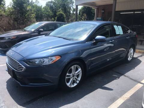 2018 Ford Fusion for sale at Scotty's Auto Sales, Inc. in Elkin NC