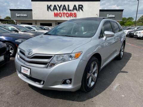 2013 Toyota Venza for sale at KAYALAR MOTORS in Houston TX