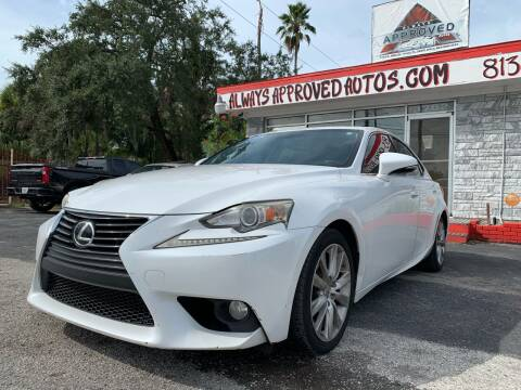2014 Lexus IS 250 for sale at Always Approved Autos in Tampa FL