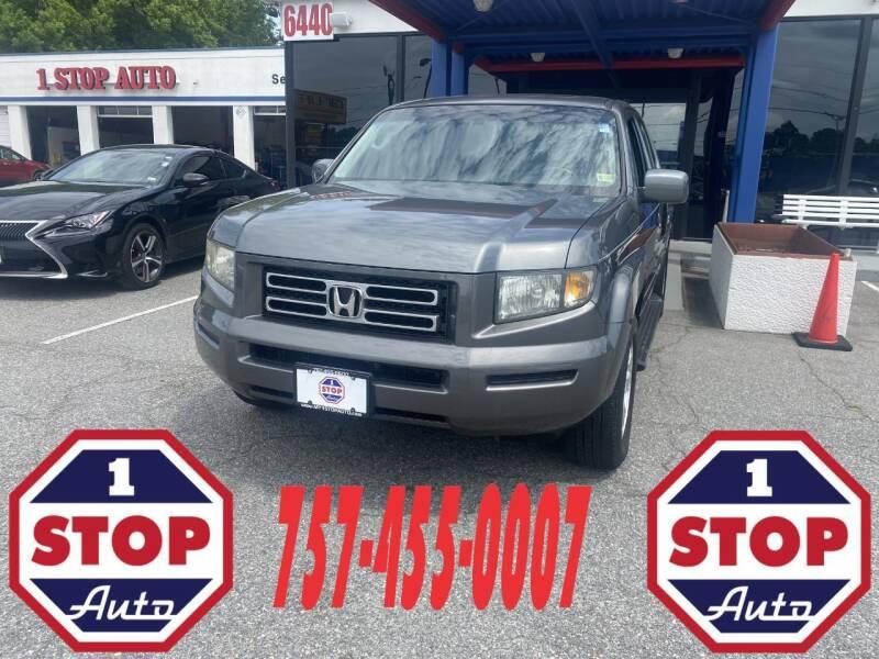 2008 Honda Ridgeline for sale at 1 Stop Auto in Norfolk VA