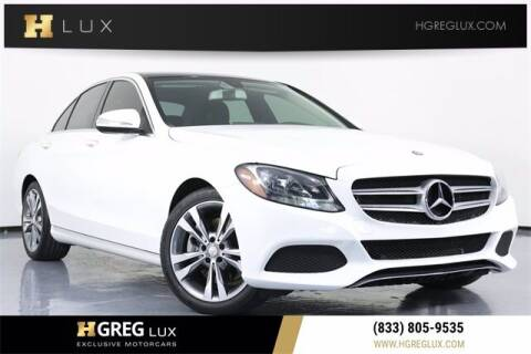 2015 Mercedes-Benz C-Class for sale at HGREG LUX EXCLUSIVE MOTORCARS in Pompano Beach FL