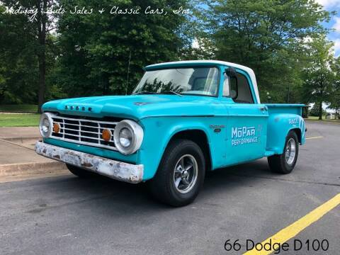 1966 Dodge D100 Pickup for sale at MIDWAY AUTO SALES & CLASSIC CARS INC in Fort Smith AR