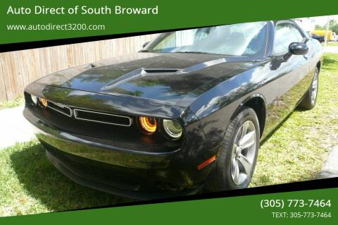 2019 Dodge Challenger for sale at Auto Direct of South Broward in Miramar FL
