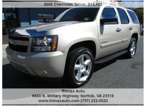2008 Chevrolet Tahoe for sale at Trimax Auto Group in Norfolk VA