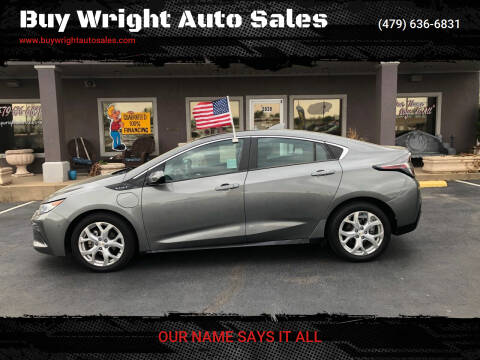2016 Chevrolet Volt for sale at Buy Wright Auto Sales in Rogers AR