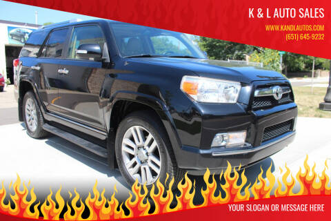 2011 Toyota 4Runner for sale at K & L Auto Sales in Saint Paul MN
