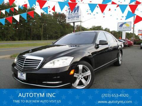 2010 Mercedes-Benz S-Class for sale at AUTOTYM INC in Fredericksburg VA